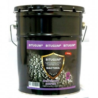 Изображение Мастика битумная (гидроизоляция кров.) 10 кг