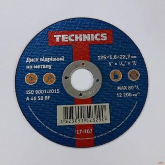 Изображение Диск отрезной по металлу 125*1,6*22 Technics 17-707