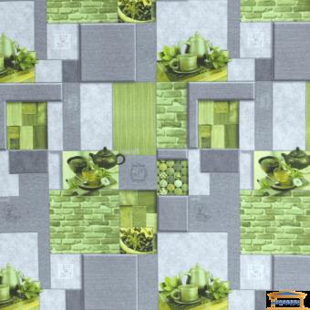 Изображение Обои флизелиновые Корица  ЭШТ 4-1209 (1,*10м) серо-салатовый
