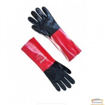 Изображение Перчатки МБС красные с черн ПВХ 69012