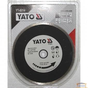 Изображение Диск алмазный Yato 180*5,3*22,2  YT-6014