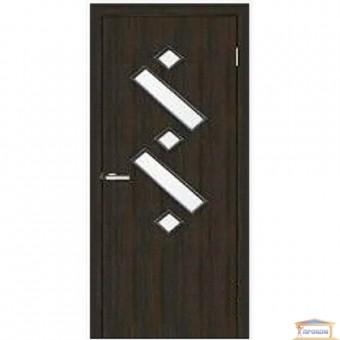 Изображение Дверь МДФ Модельные Танго2 ПО 800 стекло сатин/венге
