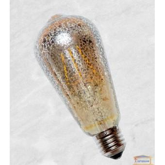 Изображение Лампа Эдисона ST-64 LED с сапфировой нитью 4W Flash Sliver