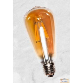 Изображение Лампа Эдисона ST-64 LED с сапфировой нитью 6W Amber 4000K