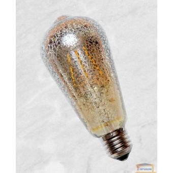Изображение Лампа Эдисона ST-64 LED с сапфировой нитью 6W Flash Sliver