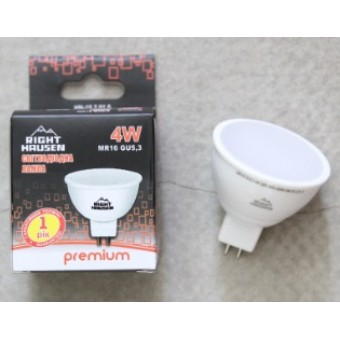 Изображение Лампа LED Right Hausen MR16 4w GU5.3 4000К (HN-152010)