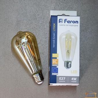 Изображение Лампа Эдисона ST-64 LED  4W Е27 2700 К золото
