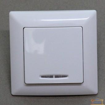Изображение Выключатель 1-кл белый с подсветкой Lectris