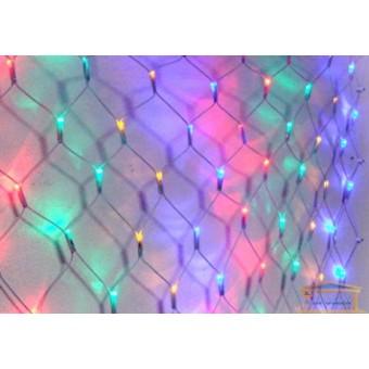 Изображение Гирлянда диодная разноцветная сетка 120 диодов