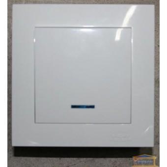 Изображение Выключатель 1-кл. внутр. белый с подсветкой Right hausen velena (HN-011021)