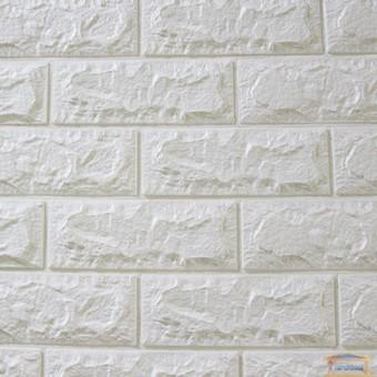 Изображение Панель стеновая 3D 700*770*7мм Белый (кирпич)