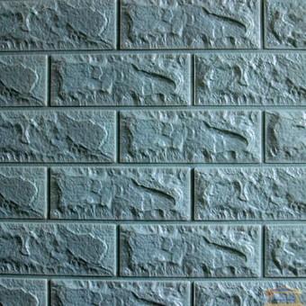Изображение Панель стеновая 3D 700*770*7мм Бирюзовый (кирпич)