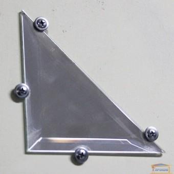 Изображение Декор зеркальный четвертинка 200*200 серебро