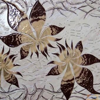 Изображение Декор Дация цветок 25*35см бежевый