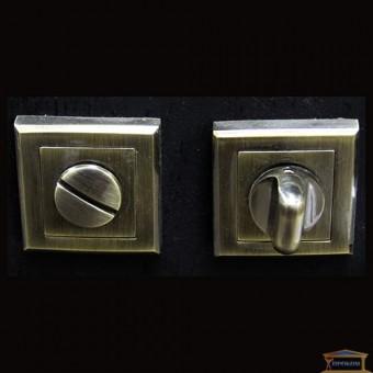 Изображение Фиксатор WC AB античная бронза квадрат