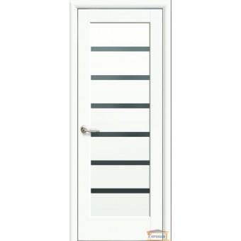 Изображение Двери межкомнатные ПВХ Линея белый матовый стекло BLK