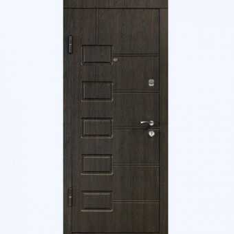 Изображение Дверь метал. ПБ 21 левая 860 мм венге структ.