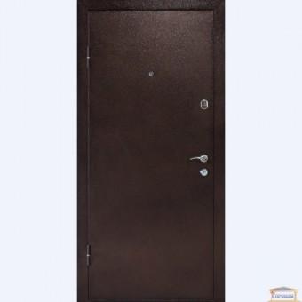 Изображение Дверь метал. Аляска 960мм орех темный левая