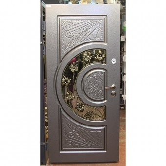 Изображение Дверь метал. Комфорт Адамант 960мм NEWантр. эмаль лев ковка