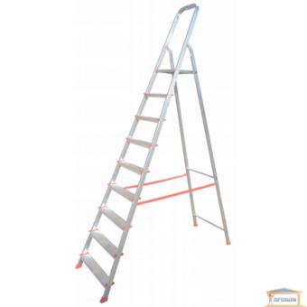 Изображение Лестница стремянка на  9 ступеней плоскоов. профиль 70-139