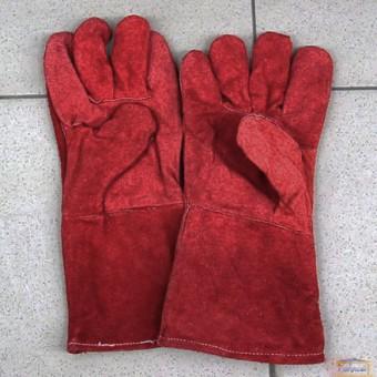 Изображение Рукавицы термостойкие для сварки красные 83V008