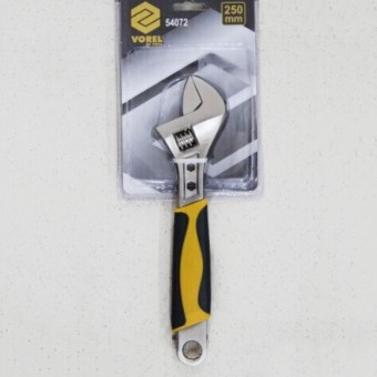 Изображение Ключ разводной с обрезиненой ручкой 250мм Vorel 54072