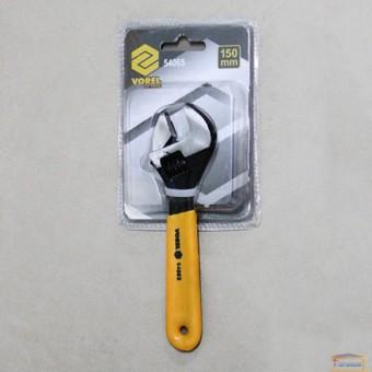 Изображение Ключ разводной с обрезиненой ручкой 150мм VOREL 54065