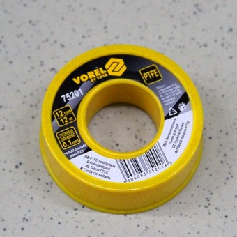 Изображение Фум-лента VOREL 12*0,1*12 тефлоновая (вода) 75201