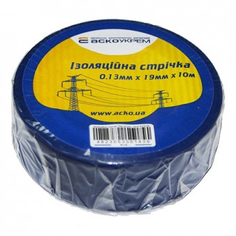 Изображение Лента изоляционная 0,13мм*19мм*10м синяя АСКО
