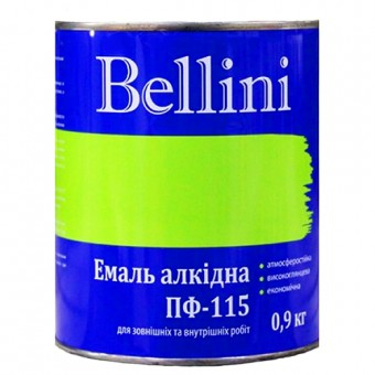 Изображение Эмаль Беллини ПФ-115 вишневая 0,9 кг
