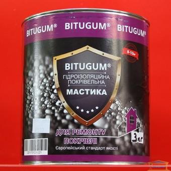 Изображение Мастика гидроизоляционная кровельная 3кг BITUGUM