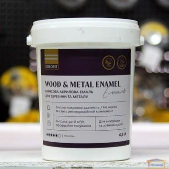 Изображение Эмаль для дерева и метала глянцевая 0,9 кг