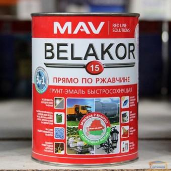 Изображение Грунт-эмаль BELAKOR 15 быстросохнущая RAL 6003 защитная матовая 1,0л