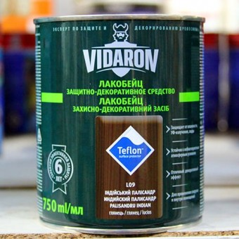Изображение Лак для дерева цветной Видарон 0,75л индийский палисандр