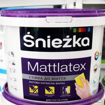 Изображение Краска водоэмульс. Снежка MATTLATEX 10л/14кг