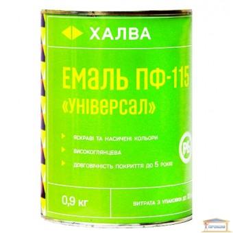 Изображение Эмаль ПФ-115 Универсал черная 0,9л Халва