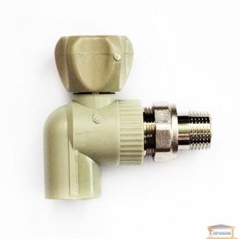 Изображение Кран радиаторный угловой 20 (антипротечка) с прокладкой