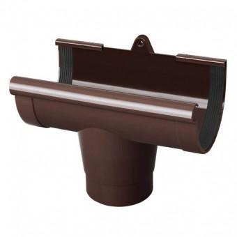 Изображение Воронка желоба 130 коричневая