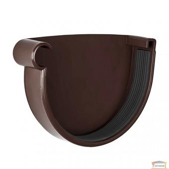 Изображение Заглушка желоба левая 130 коричневая