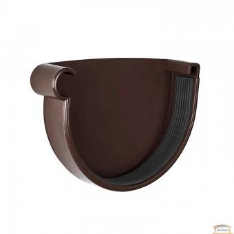 Изображение Заглушка желоба левая 90 коричневая