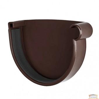 Изображение Заглушка желоба правая 130 коричневая