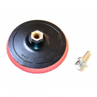 Изображение Диск с липучкой для дрели и УШМ 125мм 18-997