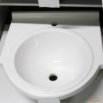 Изображение Умывальник мраморный Прометей (д520*ш500*г160) белый А100