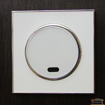Изображение Выключатель 1-кл. белый с подсветкой LAURA RH-015021