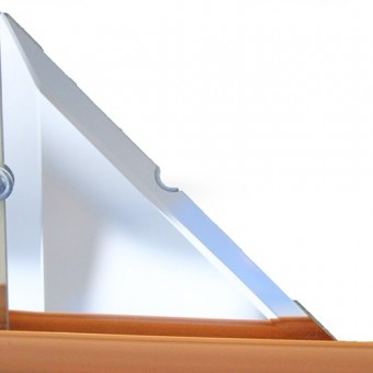 Изображение Декор треугольн. зеркальн 106*106 серебро