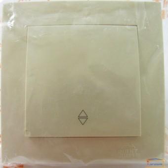 Изображение Выключатель 1-кл. внутр. кремовый проходной  Right hausen velena (HN-011033)