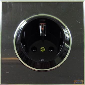 Изображение Розетка 1-я внутренняя с заземлением черная LAURA RH-015082