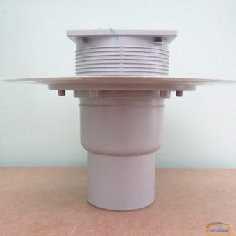 Изображение Трап 100 из нержавейки с фланцем, вертикальный с сифоном