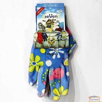 Изображение Перчатки женские синт. синие. с полиур. покр. 69179