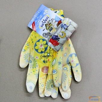 Изображение Перчатки женские синт. желтые. с полиур. покр. 69219